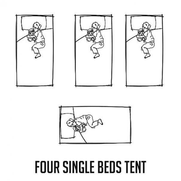 FourSingleBeds